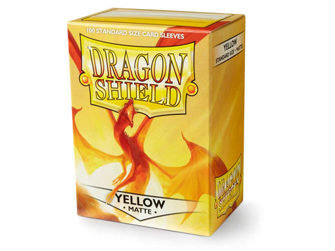 Dragon Shield Matte Yellow – 100 Standard Size Card Sleeves: www.mightylancergames.co.uk