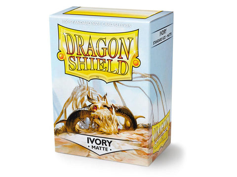 Dragon Shield Matte Ivory – 100 Standard Size Card Sleeves: www.mightylancergames.co.uk