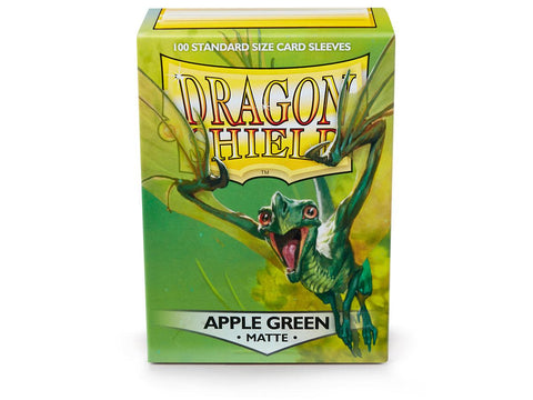 Dragon Shield Apple Green Matte– 100 Standard Size Card Sleeves