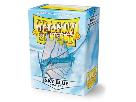Dragon Shield Matte Sky Blue – 100 Standard Size Card Sleeves