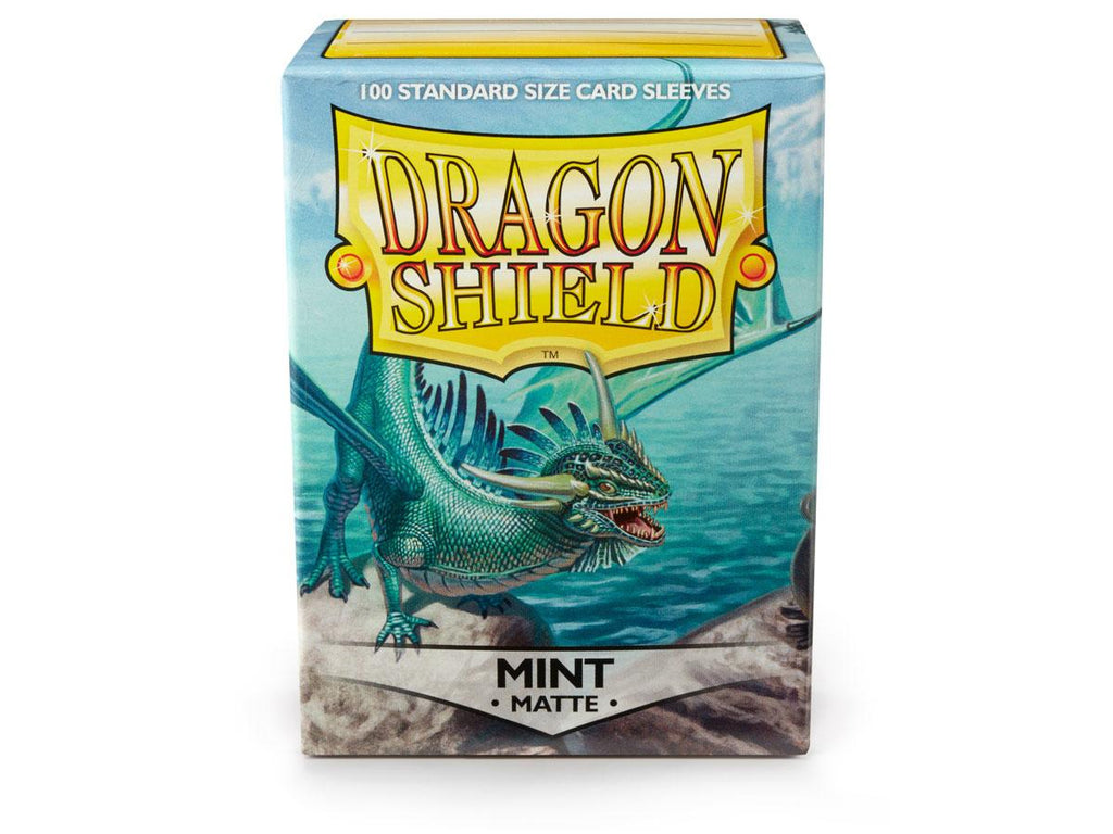 Dragon Shield Mint Matte– 100 Standard Size Card Sleeves