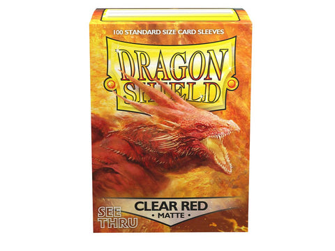 Dragon Shield Clear Matte Red – 100 Standard Size Card Sleeves