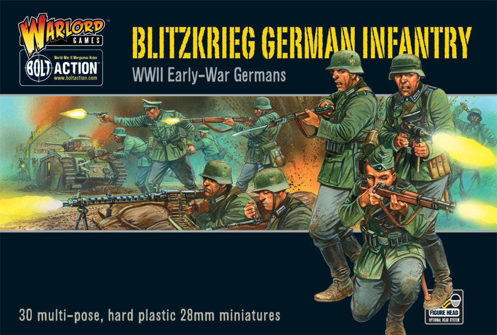 German Blitzkrieg Infantry (Bolt Action) :www.mightylancergames.co.uk