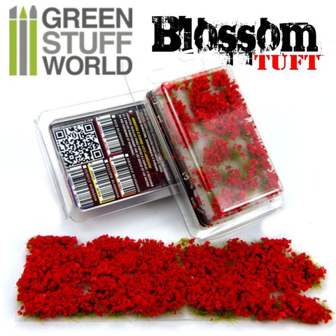 Blossom Tufts - RED Flowers - 6mm - Green Stuff World -9280
