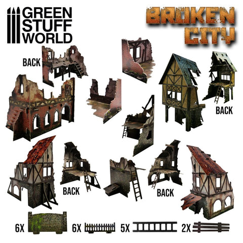 Broken City - Terrain Set (2428) - Green Stuff World