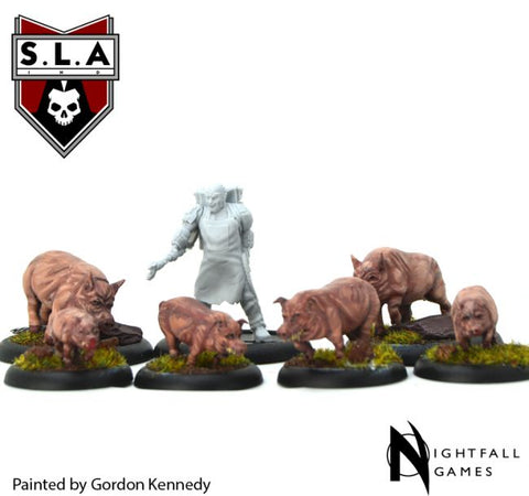 Cannibal Wrangler & Pigs Expansion - S.L.A  Cannibal Sector 1 :www.mightylancergames.co.uk