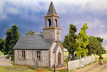 Renedra american weatherboard church plastic kit