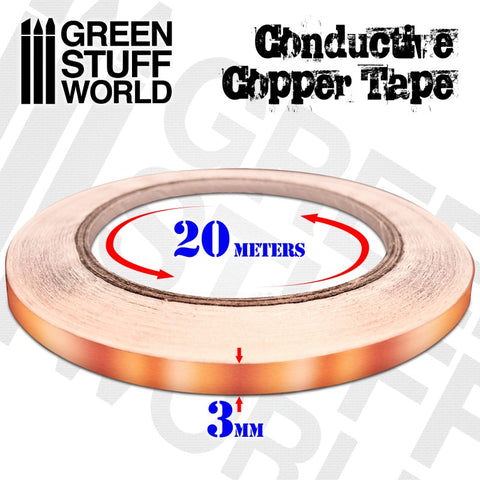 Conductive Copper Tape 3mm x 20m (2165) - Green Stuff World