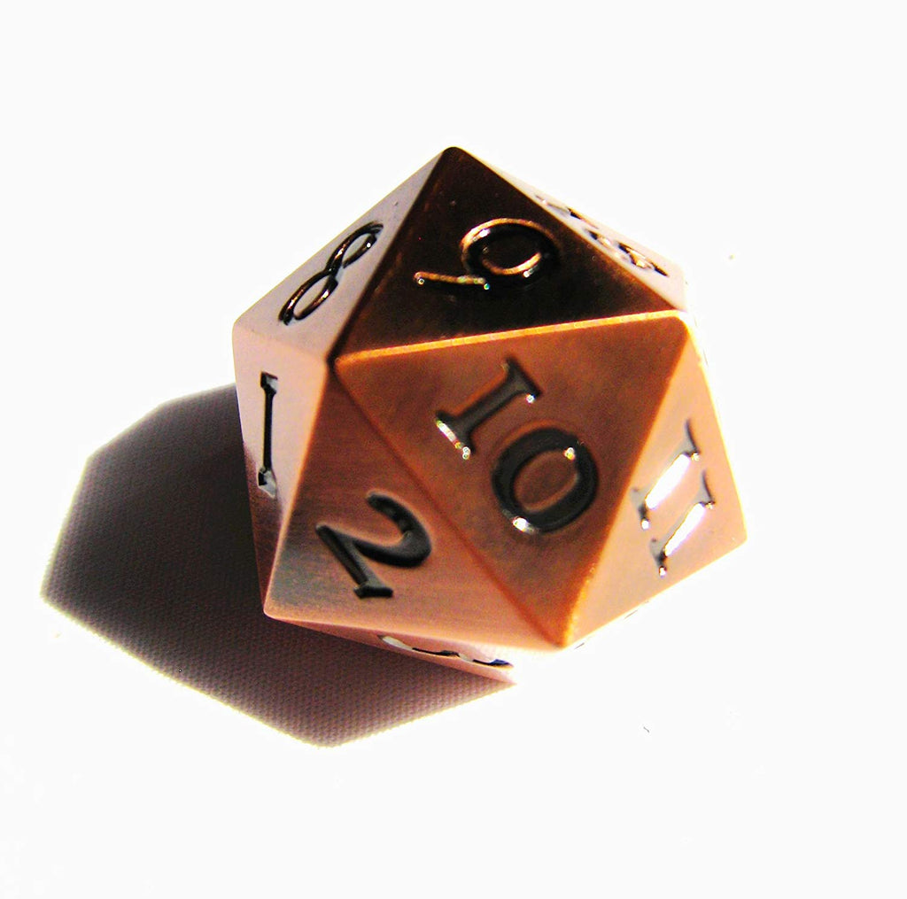 Metal D20 Spindown - Copper