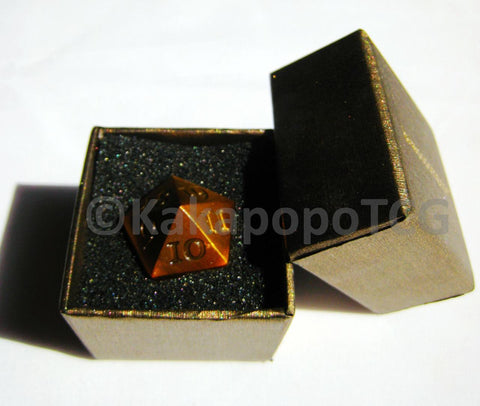 Metal D20 Spindown - Gold