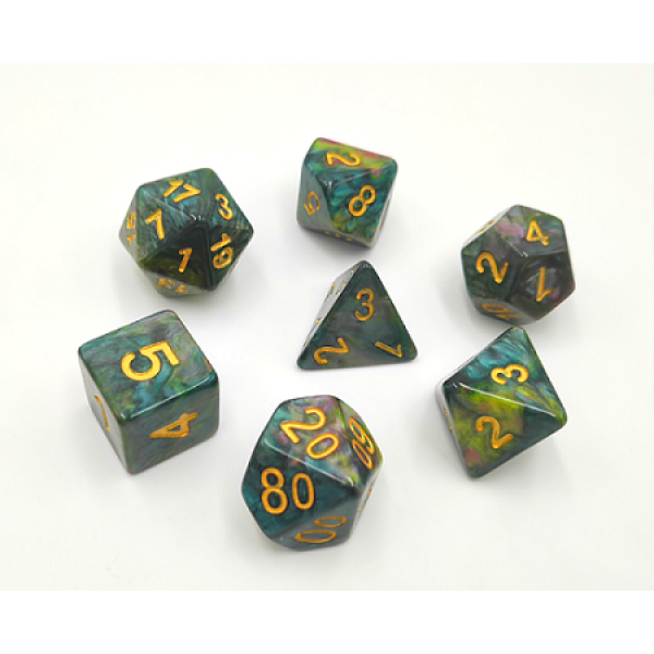 HD Marble Dice Set D20 Poly Dice - Druidstone