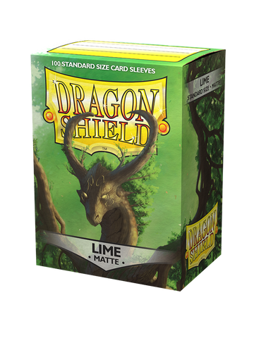 Dragon Shield Matte Lime Green  – 100 Standard Size Card Sleeves