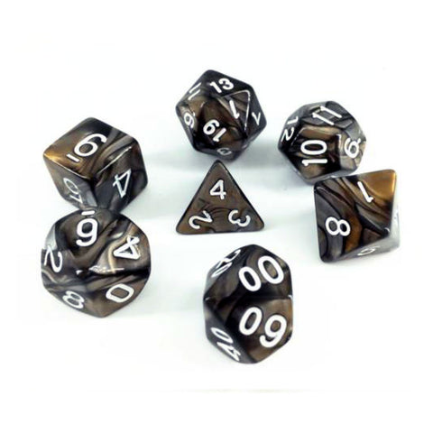 Elemental D20 Poly Dice set - Copper / Steel