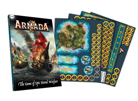 Armada Rulebook and Counter Set - Naval Combat in the Kings of War Universe