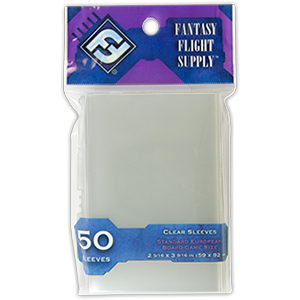FFG Standard European Board Game Sleeves [clear]