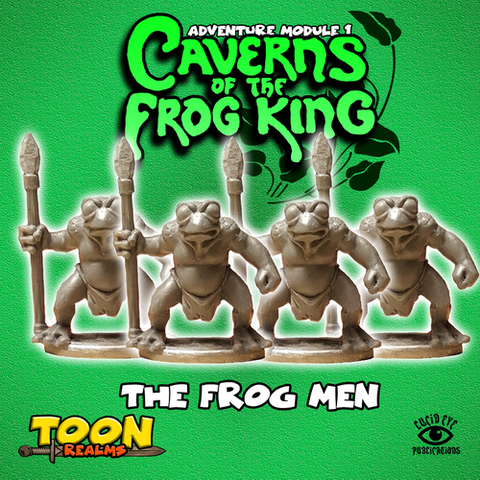 The Frog Men - Toon Realms Miniatures - Lucid Eye Publications