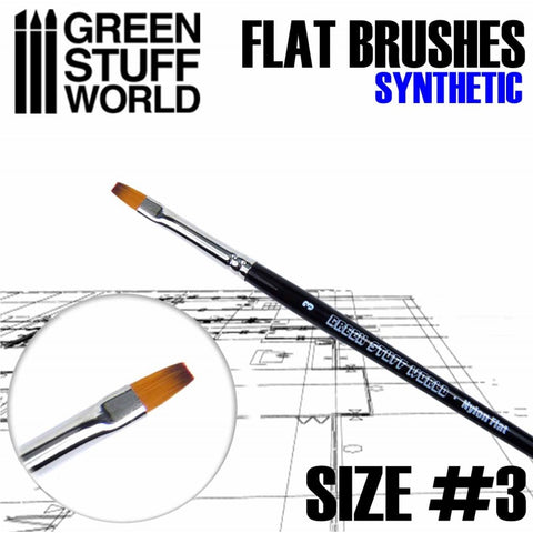 Flat Synthetic Brush Size 3 - GSW
