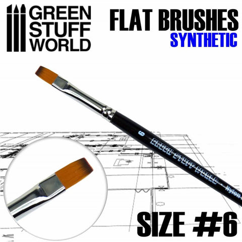 Flat Synthetic Brush Size 6 - GSW