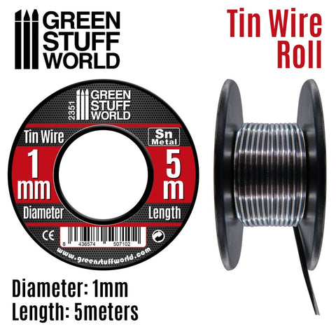 1mm Flexible tin wire roll - Green Stuff World
