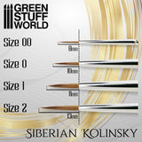 Size 0 -GOLD SERIES Siberian Kolinsky Brush- 2357-Green Stuff World