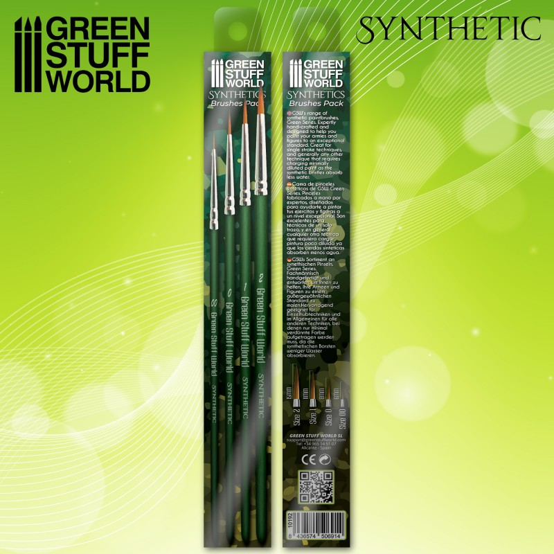 GREEN SERIES Synthetic Brush Set (4) - Green Stuff World