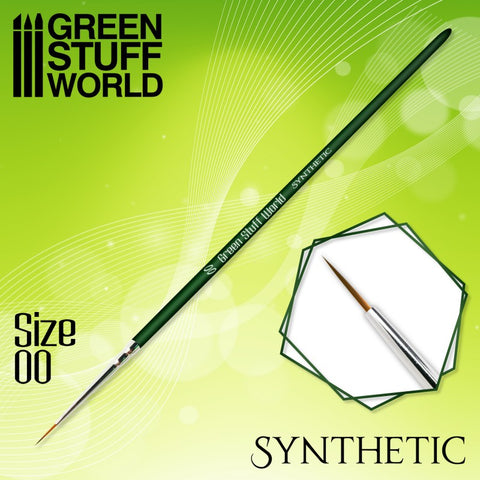 Size 00 - GREEN SERIES Synthetic Brush- Green Stuff World