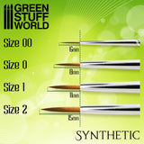 Size 1 - GREEN SERIES Synthetic Brush 2330-Green Stuff World