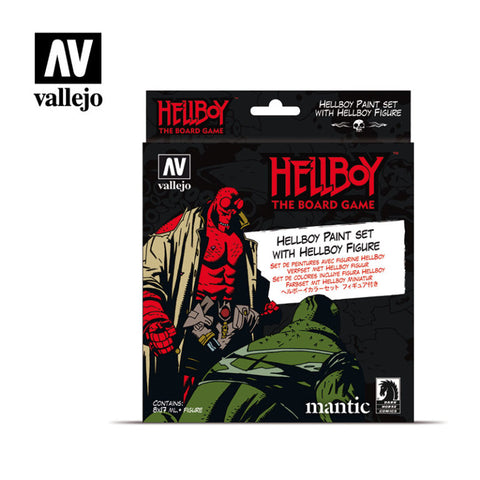Hellboy Paint Set  - AV Vallejo :www.mightylancergames.co.uk