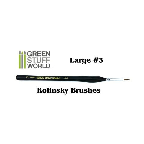 Large 3 Natural Kolinsky brush - GSW