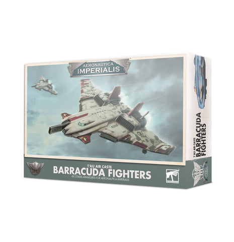 T'au Air Caste Barracuda Fighters - Aeronautica Imperialis