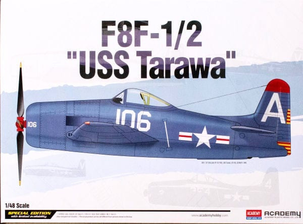 "Academy 1/48 - F8F - 1/2 ""USS Tarawa"" Special Edition Kit: www.mightylancergames.co.uk"