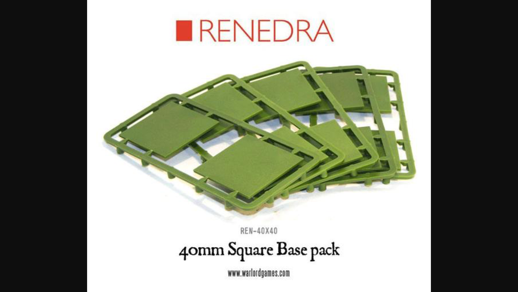 Renedra 40mm square bases