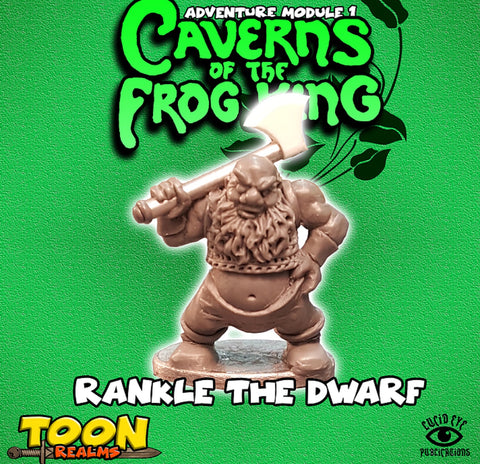 Rankle the Dwarf - Toon Realms Miniatures - Lucid Eye Publications