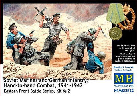 masterbox 1/35 soviet marines and German infantry