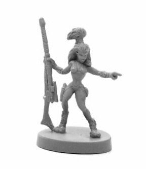49027 - Andromdedan Female Hunter (Bones Black) :www.mightylancergames.co.uk