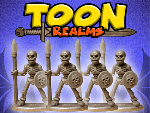 Rascal's Skeleton Warriors - Toon Realms Miniatures - Lucid Eye Publications