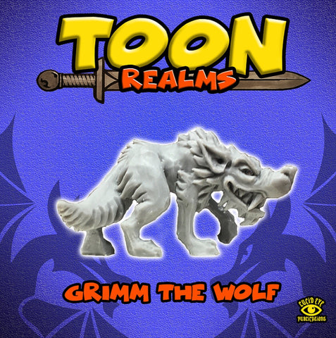 Grimm the Wolf: Toon Realms Miniatures - Lucid Eye Publications