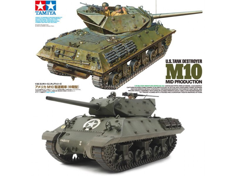 Tamiya 1/35 - U.S. Tank Destroyer M10 Mid Production (35350)