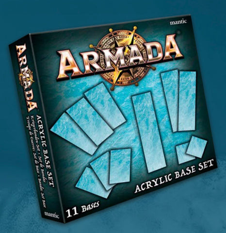 Armada Acrylic Bases Set - Naval Combat in the Kings of War Universe **Pre-order for 21/11/20 release**