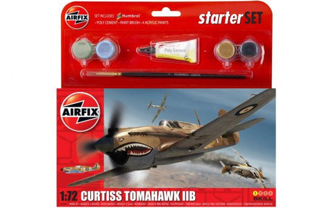 Curtiss Tomahawk IIB - starter set - 1:72 Airfix - A55101