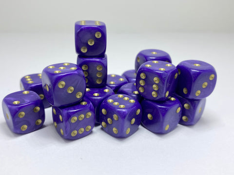 Purple Pearl (gold spots) - 20 x 12mm D6 (12PPGD6)
