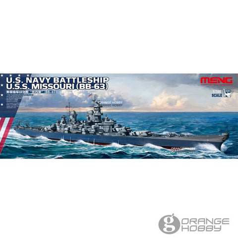 Meng model 1/700 - us navy battleship uss missouri bb-63