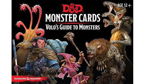 Monster Cards - Volo's Guide to Monsters (D&D 5th Edition)