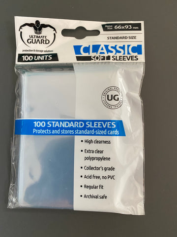 ULTIMATE GUARD CLASSIC SOFT SLEEVES - STANDARD SIZE - (100) -UGD010001