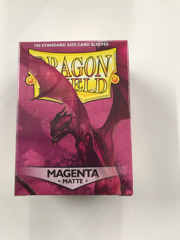 Dragon Shield Magenta Matte – 100 Standard Size Card Sleeves