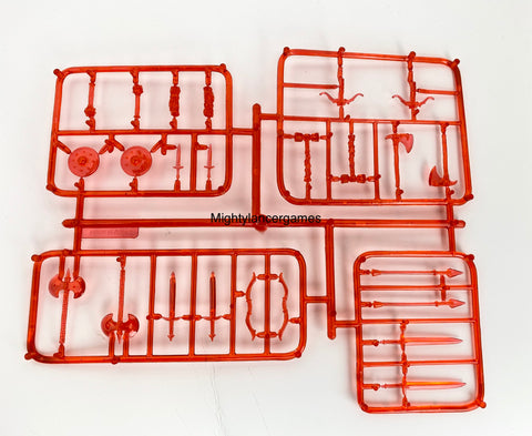 Reaper Miniatures Weapon Sprue- Red