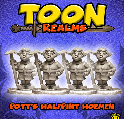 Pott's Halfpint Hoemen - Toon Realms Miniatures - Lucid Eye Publications