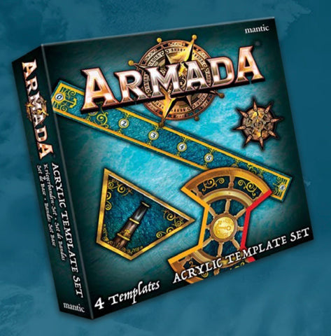 Armada Acrylic Template Set - Naval Combat in the Kings of War Universe **Pre-order for 21/11/20 release**