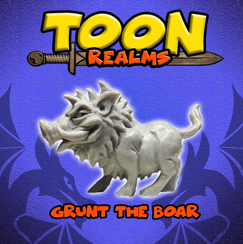Grunt the Boar - Toon Realms: www.mightylancergames.co.uk