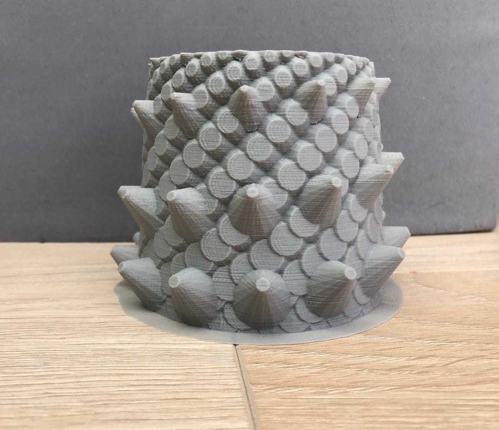 Dragon Pot - Unpainted- medium spikes